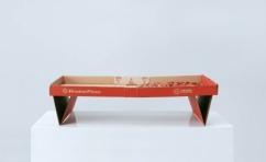 Оригинальная картонная упаковка для пиццы в виде столика-подноса